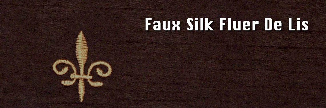 Faux Silk Fleur De Lis