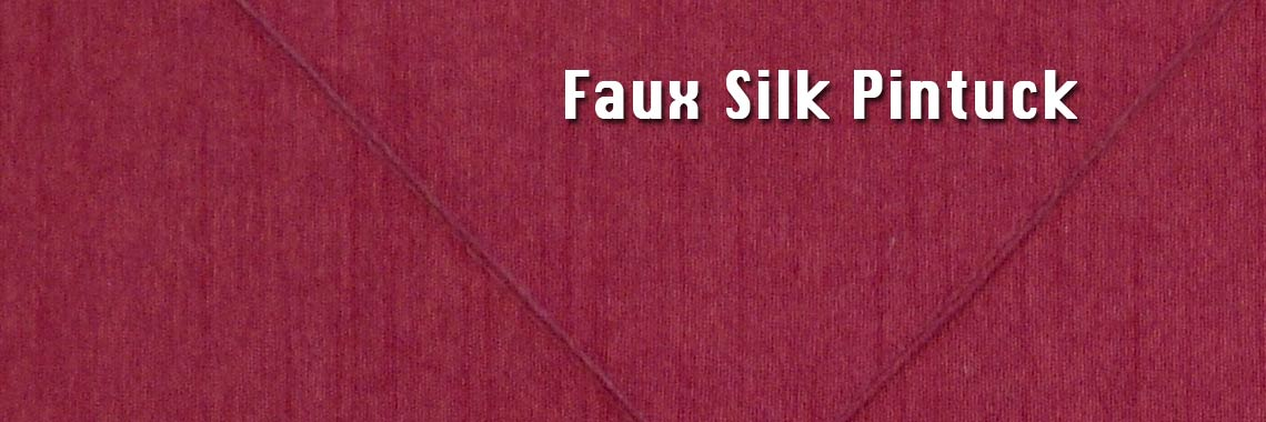 Faux Silk Pintuck