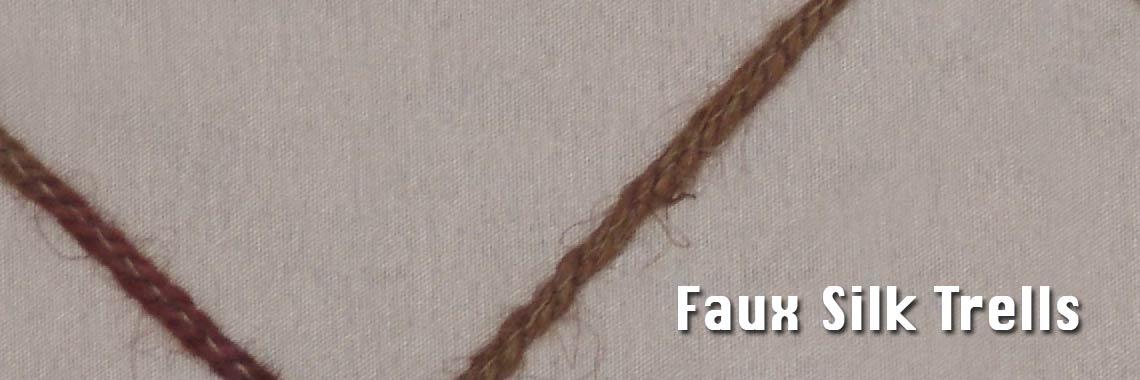 Faux Silk Trellis